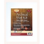 "Heritage Arts™ Archival Series 11"" x 14"" Pre-Cut Double Layer White Mat Kit; Color: White/Ivory; Format: Frame; Material: Pre-Cut Mat Board; Size: 11"" x 14""; Thickness: 1/8""; Type: Presentation Board; (model H1114ADW), price per each"