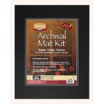 "Heritage Arts™ Archival Series 16"" x 20"" Pre-Cut Double Layer Black Mat Kit: Black/Gray, Frame, Pre-Cut Mat Board, 16"" x 20"", 1/8"", Presentation Board, (model H1620ADB), price per each"