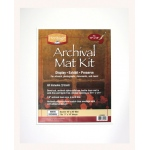 "Heritage Arts™ Archival Series 16"" x 20"" Pre-Cut Double Layer White Mat Kit; Color: White/Ivory; Format: Frame; Material: Pre-Cut Mat Board; Size: 16"" x 20""; Thickness: 1/8""; Type: Presentation Board; (model H1620ADW), price per each"