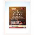 "Heritage Arts™ Archival Series 16"" x 20"" Pre-Cut Single Layer White Mat Kit: White/Ivory, Frame, Pre-Cut Mat Board, 16"" x 20"", 1/16"", Presentation Board, (model H1620ASW), price per each"