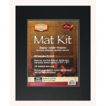 "Heritage Arts™ Standard Series 16"" x 20"" Pre-Cut Double Layer Black Mat Kit: Black/Gray, Frame, Pre-Cut Mat Board, 16"" x 20"", 1/8"", Presentation Board, (model H1620SDB), price per each"