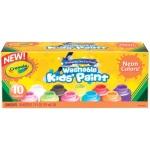 Crayola® Washable Paint 10-Color Neon Set: Multi, Bottle, 2 oz, Washable, (model 54-2390), price per set