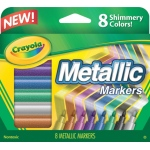 Crayola® Metallic Markers; Color: Metallic; (model 58-8628), price per set