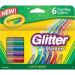 Crayola® Glitter Markers; Color: Multi; (model 58-8629), price per set