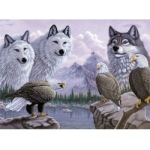 "Royal & Langnickel® Painting by Numbers™ 12 3/4 x 15 3/4 Adult Set Wolves & Eagles; Board Size: 12 3/4"" x 15 3/4""; (model PAL30), price per set"
