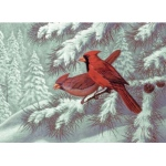 "Royal & Langnickel® Painting by Numbers™ 12 3/4 x 15 3/4 Adult Set Cardinals; Board Size: 12 3/4"" x 15 3/4""; (model PAL32), price per set"