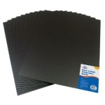 "Alvin® Black on Black Presentation Boards 15"" x 20"" (Retail Pack): Black/Gray, Sheet, 10 Sheets, 15"" x 20"", Presentation Board, (model PB1520-10), price per 10 Sheets"