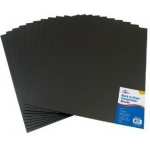 "Alvin® Black on Black Presentation Boards 16"" x 20"" (Retail Pack); Color: Black/Gray; Format: Sheet; Quantity: 10 Sheets; Size: 16"" x 20""; Type: Presentation Board; (model PB1620-10), price per 10 Sheets"