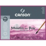 "Canson® Moulin du Roy 9"" x 12"" Hot Press Block 140 lb.: White/Ivory, Block, 9"" x 12"", Hot Press, Watercolor, (model C400014796), price per each"