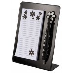 Mishu Magnetic Notestation Set Black; Color: Black/Gray; Format: Noteboard; Quantity: 50 Sheets; Type: Noteboard, Notepad; (model M135), price per each