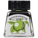 Winsor & Newton™ Drawing Ink 14ml Apple Green; Color: Green; Format: Bottle; Size: 14 ml; Type: Drawing Ink; (model 1005011), price per each