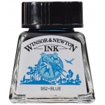 Winsor & Newton™ Drawing Ink 14ml Blue; Color: Blue; Format: Bottle; Size: 14 ml; Type: Drawing Ink; (model 1005032), price per each