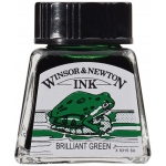 Winsor & Newton™ Drawing Ink 14ml Brilliant Green; Color: Green; Format: Bottle; Size: 14 ml; Type: Drawing Ink; (model 1005046), price per each