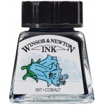 Winsor & Newton™ Drawing Ink 14ml Cobalt: Blue, Bottle, 14 ml, Drawing Ink, (model 1005176), price per each