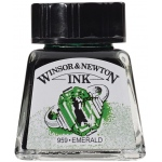 Winsor & Newton™ Drawing Ink 14ml Emerald; Color: Green; Format: Bottle; Size: 14 ml; Type: Drawing Ink; (model 1005235), price per each