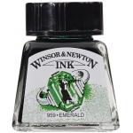 Winsor & Newton™ Drawing Ink 14ml Emerald: Green, Bottle, 14 ml, Drawing Ink, (model 1005235), price per each
