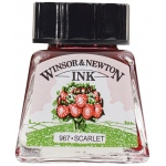 Winsor & Newton™ Drawing Ink 14ml Scarlet; Color: Red/Pink; Format: Bottle; Size: 14 ml; Type: Drawing Ink; (model 1005601), price per each