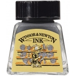 Winsor & Newton™ Drawing Ink 14ml Silver; Color: Metallic; Format: Bottle; Size: 14 ml; Type: Drawing Ink; (model 1005617), price per each
