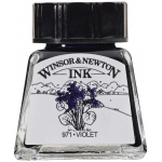 Winsor & Newton™ Drawing Ink 14ml Violet; Color: Purple; Format: Bottle; Size: 14 ml; Type: Drawing Ink; (model 1005688), price per each