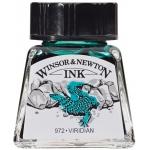 Winsor & Newton™ Drawing Ink 14ml Viridian: Green, Bottle, 14 ml, Drawing Ink, (model 1005692), price per each
