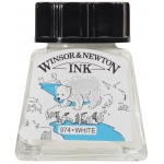 Winsor & Newton™ Drawing Ink 14ml White; Color: White/Ivory; Format: Bottle; Size: 14 ml; Type: Drawing Ink; (model 1005702), price per each