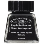 Winsor & Newton™ Drawing Ink 14ml Liquid Indian Ink; Color: Black/Gray; Format: Bottle; Size: 14 ml; Type: Drawing Ink; (model 1005754), price per each