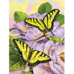 "Royal & Langnickel® Painting by Numbers™ 8 3/4 x 11 3/8 Junior Small Set Swallowtail Butterflies; Board Size: 8 3/4"" x 11 3/8""; (model PJS69), price per set"