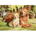 Reeves™ Large Acrylic Painting By Numbers Set Dog World; (model PL100), price per each