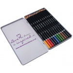 Derwent Academy Pencil 12-Color Tin Set; Color: Multi; (model 2301937), price per set