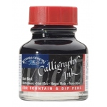 Winsor & Newton™ Calligraphy Ink Matte Black: Black/Gray, Bottle, 30 ml, Calligraphy, (model 1110030), price per each