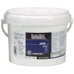 Liquitex® White Gesso 64oz; Color: White/Ivory; Size: 64 oz; Type: Acrylic Painting, Gesso; (model 5334), price per each