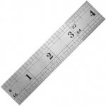 "General® 12"" Vocational Stainless Steel Ruler: White/Ivory, Steel, 12"", Ruler, (model 1538), price per each"