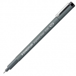 Staedtler® Pigment Liner .1mm; Color: Black/Gray; Ink Type: Pigment; Tip Size: .1mm; Tip Type: Fine Nib; Type: Technical; (model 30801), price per each