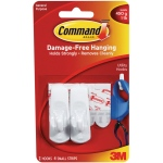 Command™ White Small Utility Hooks: White/Ivory, Plastic, Hooks, (model 17002), price per pack