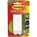 Command™ White Large Hanging Strips: White/Ivory, Picture Hanging Strips, (model 17206), price per pack