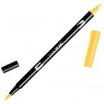 Tombow® Dual Brush® ABT Pen Light Orange: Orange, Double-Ended, Dye-Based, Brush Nib, Fine Nib, Brush Pen, (model 56502), price per each
