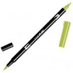 Tombow® Dual Brush® ABT Pen Light Olive: Green, Double-Ended, Dye-Based, Brush Nib, Fine Nib, Brush Pen, (model 56513), price per each