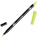 Tombow® Dual Brush® ABT Pen Chartreuse; Color: Green; Double-Ended: Yes; Ink Type: Dye-Based; Tip Type: Brush Nib, Fine Nib; Type: Brush Pen; (model 56514), price per each