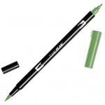 Tombow® Dual Brush® ABT Pen Dark Olive: Green, Double-Ended, Dye-Based, Brush Nib, Fine Nib, Brush Pen, (model 56516), price per each