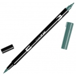 Tombow® Dual Brush® ABT Pen Gray Green: Green, Double-Ended, Dye-Based, Brush Nib, Fine Nib, Brush Pen, (model 56523), price per each