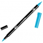 Tombow® Dual Brush® ABT Pen Reflex Blue: Blue, Double-Ended, Dye-Based, Brush Nib, Fine Nib, Brush Pen, (model 56555), price per each