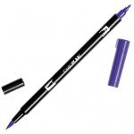 Tombow® Dual Brush® ABT Pen Violet: Purple, Double-Ended, Dye-Based, Brush Nib, Fine Nib, Brush Pen, (model 56568), price per each
