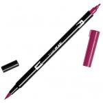 Tombow® Dual Brush® ABT Pen Wine Red: Red/Pink, Double-Ended, Dye-Based, Brush Nib, Fine Nib, Brush Pen, (model 56595), price per each