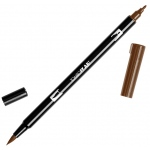 Tombow® Dual Brush® ABT Pen Chocolate; Color: Brown; Double-Ended: Yes; Ink Type: Dye-Based; Tip Type: Brush Nib, Fine Nib; Type: Brush Pen; (model 56613), price per each