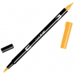 Tombow® Dual Brush® ABT Pen Chrome Yellow; Color: Yellow; Double-Ended: Yes; Ink Type: Dye-Based; Tip Type: Brush Nib, Fine Nib; Type: Brush Pen; (model 56616), price per each