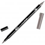 Tombow® Dual Brush® ABT Pen Warm Gray 2: Black/Gray, Double-Ended, Dye-Based, Brush Nib, Fine Nib, Brush Pen, (model 56641), price per each