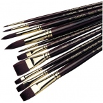 Winsor & Newton™ Galeria™ Round Long Handle Brush #1: Long Handle, Synthetic, Round, Acrylic, (model 5730001), price per each