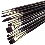 Winsor & Newton™ Galeria™ Bright Long Handle Brush #2: Long Handle, Synthetic, Bright, Acrylic, (model 5731002), price per each