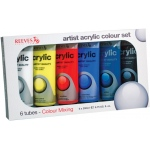 Reeves™ Acrylic 6-Color Set: Multi, Tube, 200 ml, Acrylic, (model 8380900), price per set