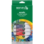 Reeves™ 22ml Acrylic 10-Color Set; Color: Multi; Format: Tube; Size: 22 ml; Type: Acrylic; (model 8390110), price per set